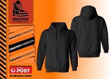1 x Plain Black Hoodie Men Women Hooded Fleecy Sweatshirt Jumper Pullover Basic