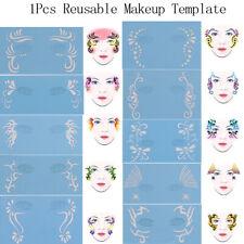 1Pcs Reusable Soft Face Paint Stencil Diy Facial Design Makeup Painting Templ sp