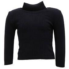 9445U maglione bimba PAIO CRIPPA dolcevita lana merino blu sweater kid