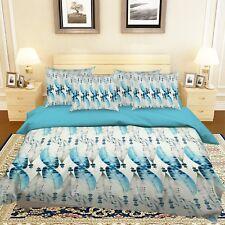 3D Blue Leaf 472 Bed Pillowcases Quilt Duvet Cover Set Single Queen King Au Cobb