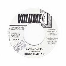 "BIGGA HAITIAN - RASTA PARTY-Volume 1- TUFF DIGI ROOTS REGGAE 7"" hear"