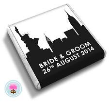 Personalised NEW YORK Skyline Manhattan Big Apple Wedding Favour Chocolates