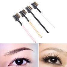 Eyebrow Eyelash Dual-Comb Extension Brush Metal Comb Cosmetic Makeup ToolsEC
