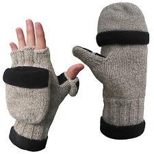 Ragg Wool Heated glove with pop-top mitten