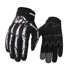 Mens Cycling Full Finger Gloves Bike Gloves Motorcycle Skull Bone Skeleton Goth