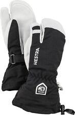 HESTRA Army Leather Heli Ski Jr 3-Finger Kinder Handschuhe (30562) NEUWARE!!