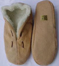 Mocassin chaussons, schluffis, cuir, beige doublure intérieure webfell-96