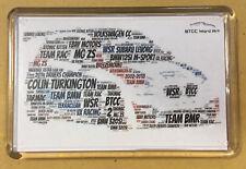 2018 BTCC Drivers / Teams / Cars Created using Colour Word Art ~ FRIDGE MAGNET