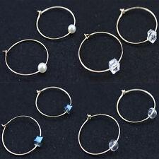 Earrings Geometric Dangle Circle Earrings Hoops New Pair of Gold Plated Hoop