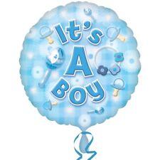 C'est un garçon NOUVEAU bébé baptême Bleu Tétine 45.7cm Fête Ballon Plat