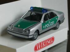 Wiking Mercedes E-Klasse POLIZEI gruen-silber, 0104 13
