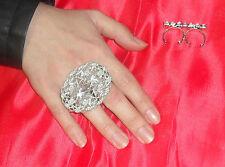 anello doppio dito OVALE  PL ARGENTO made in italy