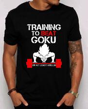 Training to Beat Goku Men's T-shirt. Train Insaiyan goku vegeta DBZ fans. S-4XL