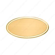 Targa ovale da porta o da ufficio in ottone completa di incisione spessore 1,5