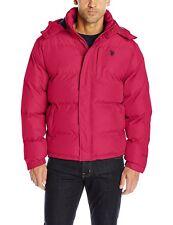 U.S. Polo Assn Mens Classic Bubble Jacket w/ Polar Fleece Lining and Mini Logo