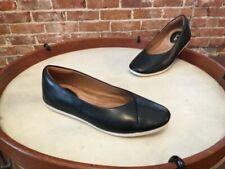 Clarks Artisan Black Leather Slip On Comfort Ballet Flats NEW Feature Fest