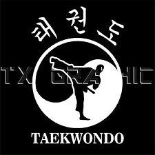 TAEKWONDO STICKER KOREAN MARTIAL ART VINYL DECAL TAE KWON DO  SELF DEFENCE WTF