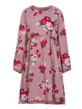 Creamie Rose Print on Mauve Dress Girls Sizes 4,5, 6 Long Sleeves NWT