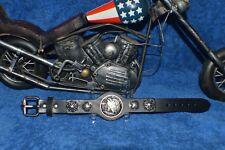 Half Dollar Biker Bracelets  Adjustable Rad Gypsy Punk Rock Hiphop Tribal Unisex