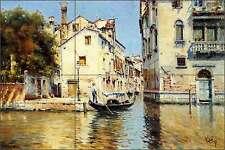 Ceramic Tile Mural Backsplash Reyna Venice Italy Venetian Canal Art AR004
