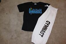 "Gymnastics ""Live love breathe"" gymanstic shirt with Capri's youth sizes Xs-Xl"