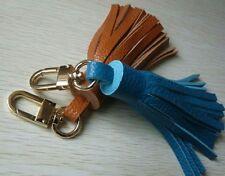 Handmade Genuine Leather Tassel Pendant Mobile/Bag Key Chains Bag Accessories