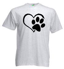 Hunde T-Shirt | Wahre Liebe | Herz mit Hundepfote | Hund | Frauchen       10-393