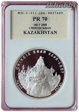 Kazakhstan 2008 silver 100 Tenge Chingiz Khan Pferd Horse Rarytas PR70 Rare