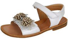 Zecchino d'Oro A21-2084 zauberhafte Sandalen 3D Blumen Leder Weiß Gr. 32-35 Neu