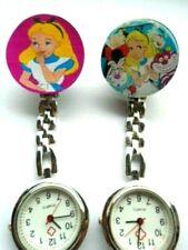 Nurse Watch Alice In Wonderland Clip on Brooch Watch Mad Hatter Cheshire Cat Fun