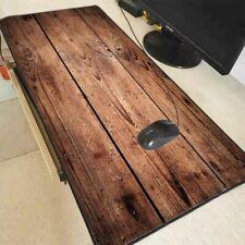 Large Mouse Pad Gaming Locking Edge Desk Mat Laptop Computer Pc Brown Wood Grain