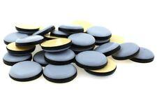 Round PTFE Teflon Furniture Glides - Self Adhesive - Various Size Gliders