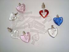 Lot Assorted glass vials diy keepsake Blemished or Pre Glued Clearance Reduced