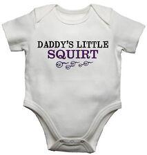 DADDYS poco Squirt FUNNY BABY Gilet BODYSUITS PERSONALIZZATO REGALO