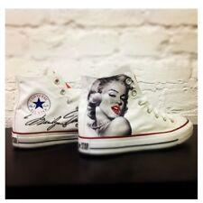 Converse Marilyn Monroe Scarpe Disegnate Handmade Paint Uomo Donna Classiche in