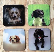 Personalised Square Hardboard Coasters, Text,Photo,Logo, custom personalisation