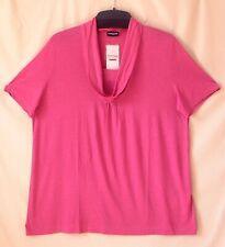 Samoon Shirt Gerry Weber sommerlich leicht Longstyle mit Pailletten pink Neu Gr.