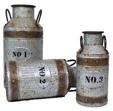 New Vintiquewise Galvanized Metal Rustic Milk Can, Qi003292