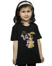 Disney Niñas Mary Poppins Floral Silhouette Camiseta