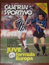 GUERIN SPORTIVO 1985/13 COPPE EUROPEE KOLN BAYERN ROMA JUVE INTER VERONA