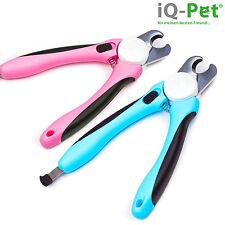 Krallenschere von iQ-Pet® + Feile | PREMIUM Krallenzange | mit Schutzvorrichtung