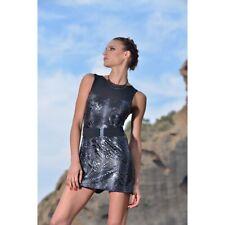 Robe courte sexy léopard noire -50% référence Serena de Patrice Catanzaro