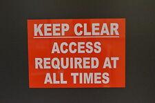 Se requiere acceso a mantener claro en todo momento Dibond A3 Metal 3mm Impermeable Sign Tamaño