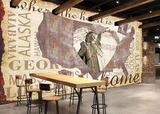 3D Statue of Liberty Wall Paper Wall Print Decal Wall Deco Indoor Wall Murals
