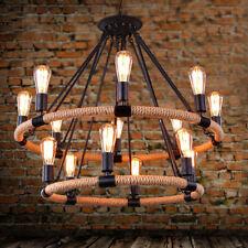 Rope Chandelier Pendant Light Restoration Hardware Lighting Lamp Ceiling Fixture