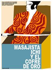 Masajista Ichi vintage Movie POSTER.Japanese Graphic Design.Art Decoration.3648