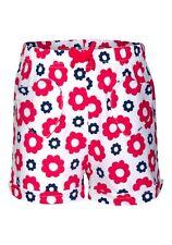 Girls Short White Multi Floral Print Elasticated Waist Smart Summer Shorts.1-5yr