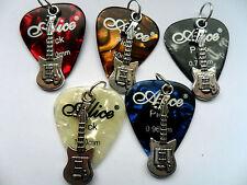 Alice PUA/PLECTRO y Guitarra de Plata Cuero Collar 5 a elegir