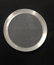 "Aluminium Mesh Pizza Pan Baking Tray Half 1/2"" Deep (7"" to 16"" inch available)"