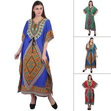 e13fafa81d1 African Boho Hippy Long Kaftan Plus Size Length Casual Maxi Dress Summer  Wear